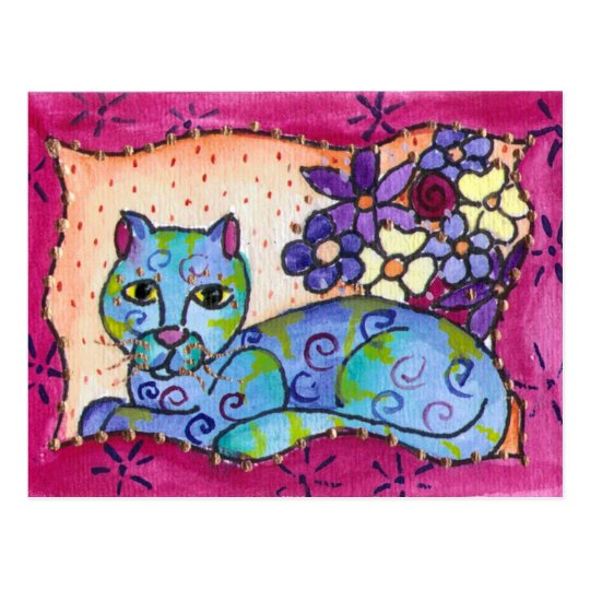 Blue Tabby Cat Postcard