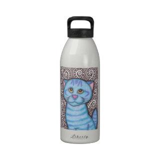 Blue Tabby Reusable Water Bottles