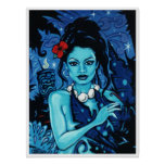 'Blue Tabu' art poster print