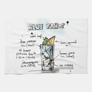 Blue Tahoe Drink Recipe Design Kitchen Towels