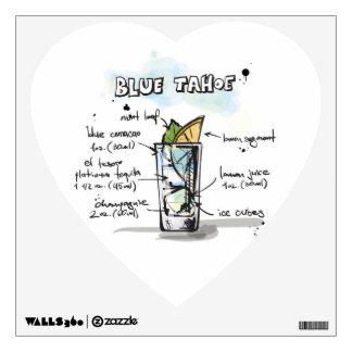 Blue Tahoe Drink Recipe Design Wall Sticker