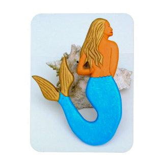 blue tail mermaid magnet