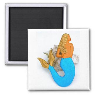 blue-tail mermaid magnet