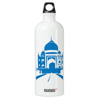 Blue Taj Mahal Aluminum Water Bottle