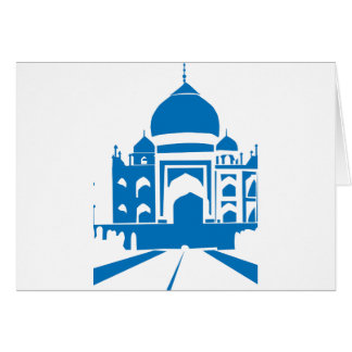 Blue Taj Mahal Card