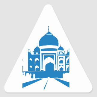 Blue Taj Mahal Triangle Sticker