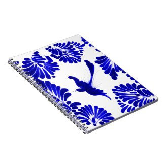 Blue Talavera Bird Notebook