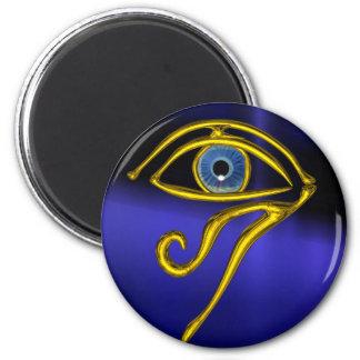 BLUE TALISMAN 2 INCH ROUND MAGNET
