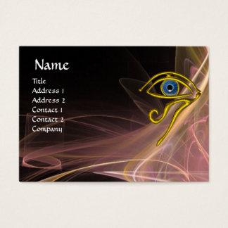 BLUE TALISMAN ANTIQUE PINK BROWN WHITE LIGHT WAVES BUSINESS CARD