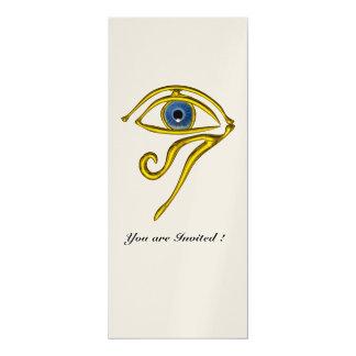 BLUE TALISMAN,Black and Gold Metallic Card