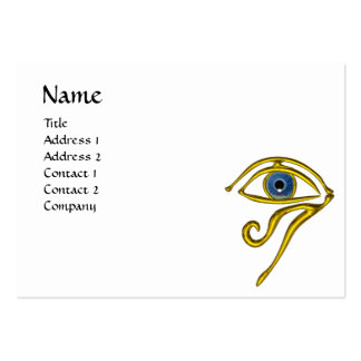 BLUE TALISMAN, black and white yellow Large Business Card