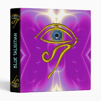 BLUE TALISMAN, black violet purple 3 Ring Binder