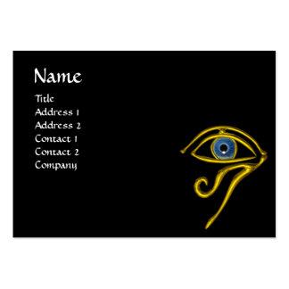 BLUE TALISMAN, black yellow Large Business Card