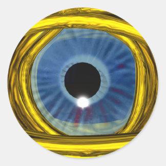 BLUE TALISMAN, detail Round Sticker