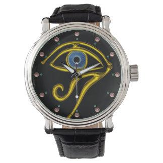 BLUE TALISMAN / EYE OF HORUS ,Black Wristwatch