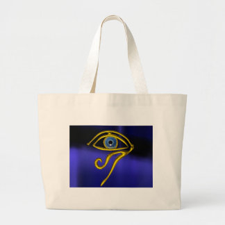 BLUE TALISMAN / GOLD HORUS EYE CANVAS BAGS