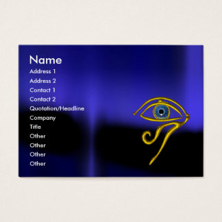 BLUE TALISMAN / GOLD HORUS EYE BUSINESS CARD