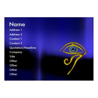 BLUE TALISMAN / GOLD HORUS EYE LARGE BUSINESS CARD