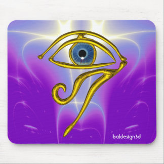 BLUE TALISMAN / GOLD HORUS EYE MOUSE PAD