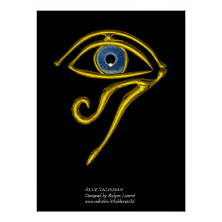 BLUE TALISMAN / GOLD HORUS EYE POSTER