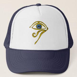 BLUE TALISMAN / GOLD HORUS EYE TRUCKER HAT