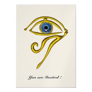 BLUE TALISMAN,gold metallic paper Card