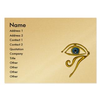 BLUE TALISMAN,gold metallic paper Large Business Card