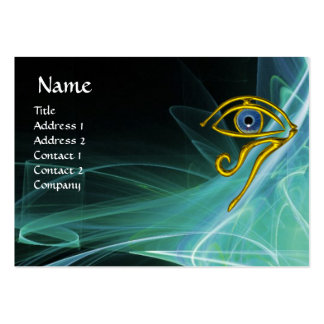 BLUE TALISMAN, IN GREEN TEAL WHITE LIGHT WAVES LARGE BUSINESS CARD