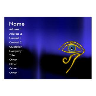 BLUE TALISMAN MONOGRAM black yellow Large Business Card