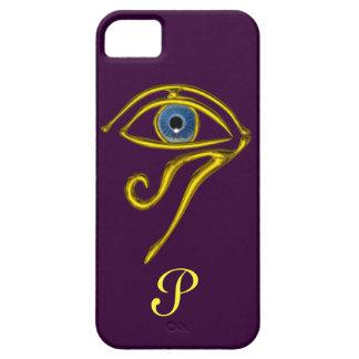 BLUE TALISMAN MONOGRAM Purple iPhone SE/5/5s Case