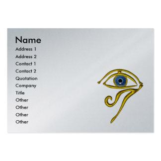 BLUE TALISMAN,platinum metallic paper Large Business Card