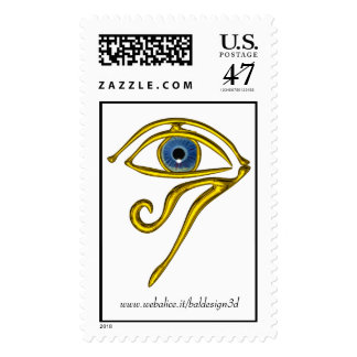 Blue Talisman Postage Stamp