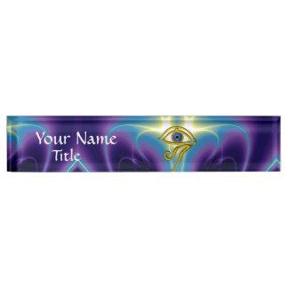 BLUE TALISMAN, purple violet blue Nameplate