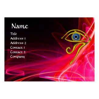 BLUE TALISMAN ,RED PINK FUCHSIA WHITE LIGHT WAVES LARGE BUSINESS CARD