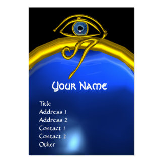BLUE TALISMAN SAPPHIRE  MONOGRAM black yellow Large Business Card