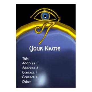 BLUE TALISMAN TOPAZ  MONOGRAM black yellow Large Business Card
