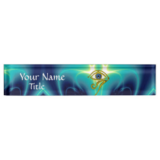 BLUE TALISMAN Turquoise Teal Name Plate