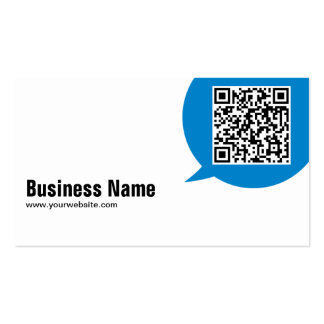 Blue Talk Bubble Bioengineer Business Card