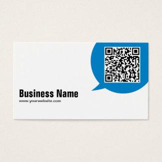 Blue Talk Bubble Economist Business Card