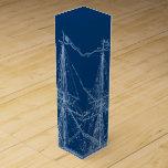 "Blue Tall Sailing Ship Blueprint Wine Box<br><div class=""desc"">Blue Tall Sailing Ship Blueprint Wine Box</div>"