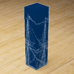 "Blue Tall Sailing Ship Blueprint Wine Box<br><div class=""desc"">Blue Tall Sailing Ship Blueprint Wine Box</div>"