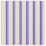 [ Thumbnail: Blue & Tan Colored Pattern Fabric ]