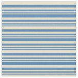 [ Thumbnail: Blue & Tan Colored Stripes Fabric ]