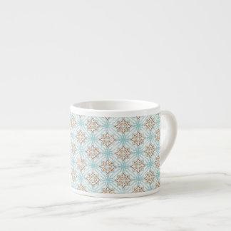 Blue Tan Cream Espresso or Eggnog Mug