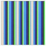 [ Thumbnail: Blue, Tan, Lime, Black, and Dark Blue Colored Fabric ]