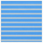 [ Thumbnail: Blue & Tan Striped Pattern Fabric ]