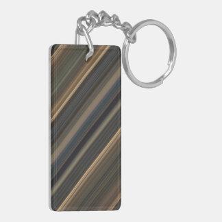 Blue & Tan Stripes Acrylic Keychain