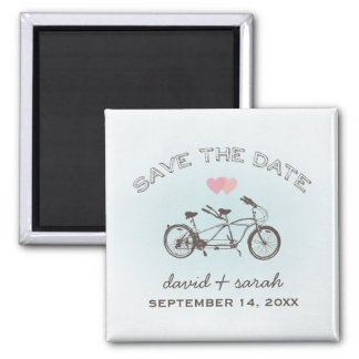Blue Tandem Bicycle Save The Date Magnet