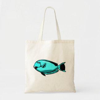 Blue Tang Fish Canvas Bag