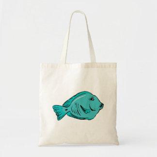 Blue Tang Fish Tote Bag